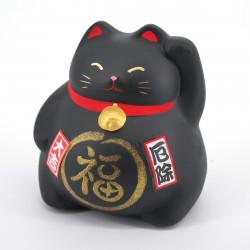 Chat tirelire noir porte-bonheur japonais maneki neko PROTECT