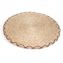 coussin rond Zabuton en paille de riz Ø44 x H2,5cm