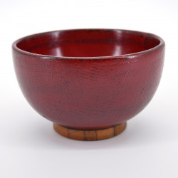 japanese red wooden bowl SÔNUNO NEGORO