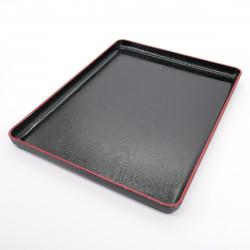 plateau rectangulaire noir revêtement adhérent FUJI NAGATE MOKUME
