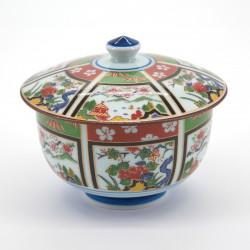 tasse japonaise avec couvercle en porcelaine SANSUI