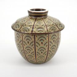tasse marron à thé avec couvercle en céramique 1041122