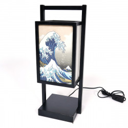 Lampe de table SHOJI japonaise noire - Bambou