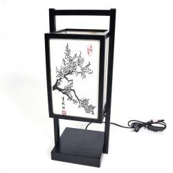 Lampe de table SHOJI japonaise noire - Prunier