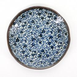 japanese blue patterns plate Ø16,2cm KARAKUSA