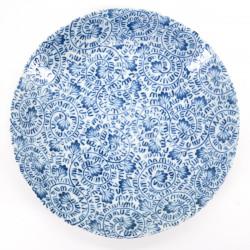 japanese blue traditional plate Ø22,5cm TAKO KARAKUSA