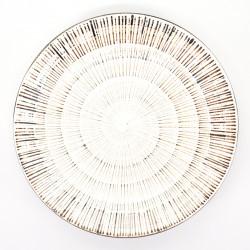 japanese round white plate Ø23,7cm KOHIKI SENDAN