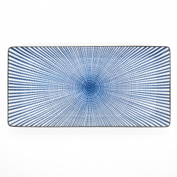 japanese blue lines plate 23,3cm SENDAN TOKUSA