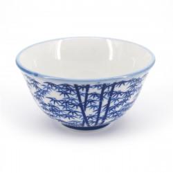 tasse japonaise blanche motifs bambou TAKEBAYASHI ATSUSHI SENCHA