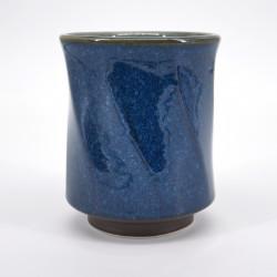 japanese blue octogon teacup Ø8,5cm NAMAKO HAKKAKU