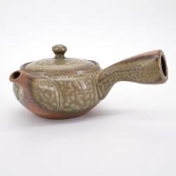 japanese brown and green teacup 38cl ISSHINSAKU IRABO UWAGUSURI