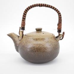 théière marron japonaise en terre cuite 0,80L BIZEN KAZE