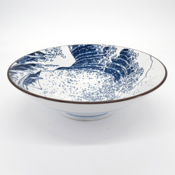 japanese râmen noodles white hokusai wave bowl SHIRANAMI