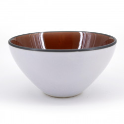japanese white pearl and brown bowl Ø12cm UCHI AME GAI PEARL