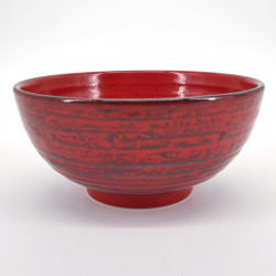 grand bol rouge japonais contenance 1,05L NEGORO SAME
