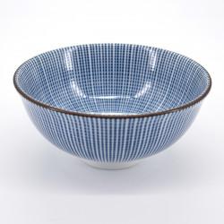 bol blanc motifs lignes bleues Ø11,8cm SENDAN TOKUSA
