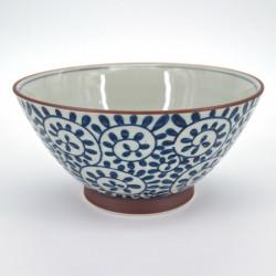 bol râmen blanc motifs bleus Ø18cm TAKO KARAKUSA