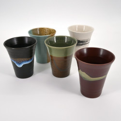japanese 5 cups set in ceramic MEISUE NO SATO