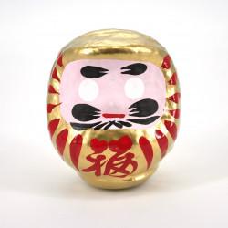 poupée japonaise okiagari DARUMA doré