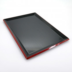 plateau rectangulaire noir FUJI NAGATE MOKUME
