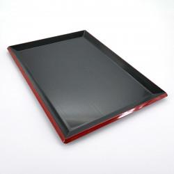 japanese black tray FUJI NAGATE MOKUME