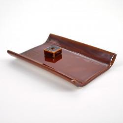 porte encens yukari plat blanc ou marron