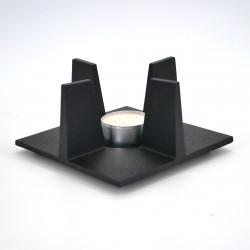 chauffe-théière réchaud en fonte noir carré SHIN ORI taille au choix