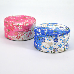 Japanese tea box washi paper flat 40g pink blue choice YUKI