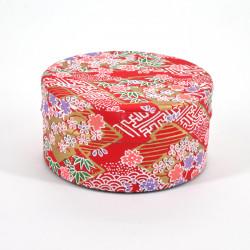 Japanese tea box washi paper flat 40g red