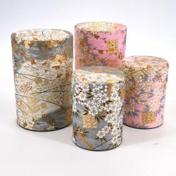 boîte à thé japonaise en papier washi 40g 100g gris rose au choix