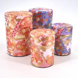 boîte à thé japonaise en papier washi 40g 100g rose violet au choix