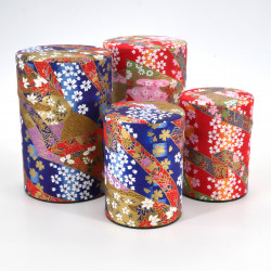Japanese tea box washi paper 40g 100g red blue choice KAWA