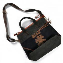 Grand sac unique en tissus recyclés japonais 149 A