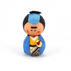 poupée japonaise okiagari doll SAMURAI