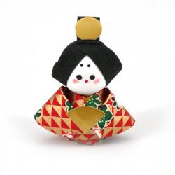 bambola giapponese, fatta di carta - okiagari, OHINASAMA, donna