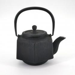 black japanese hexagon Cast Iron Teapot Rokkaku Rikyû 0,5 lt