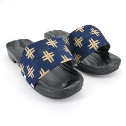 black traditional Japanese wooden footwear for women