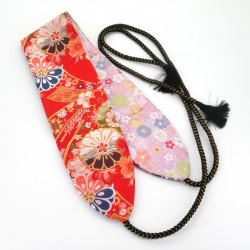 Kinran obi traditional Japanese reversible belt