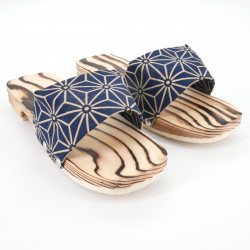 black traditional Japanese wooden footwear for women