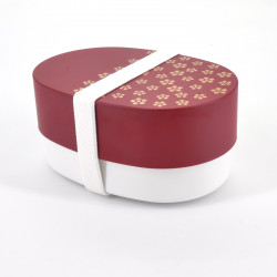 japanese red oval bento lunch box 13,6x9,4x6,8cm UMEMON