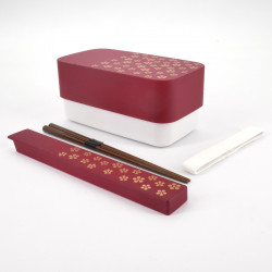 japanese red rectangular bento lunch box 15,4x8,3x7,2cm UMEMON