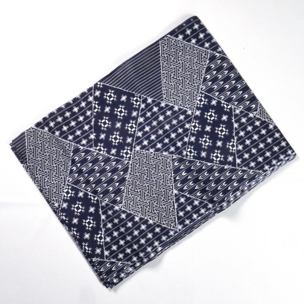 Japanese blue cotton fabric made in Japan for kimono 12m x 38cm patterns