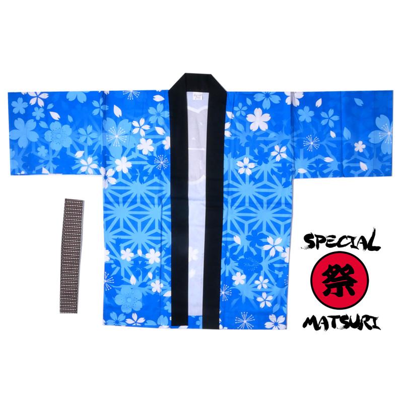 haori en coton couleur au choix pour festival matsuri asanoha sakura