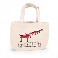 Japanese single tote bag cotton KYOTO 20x30cm