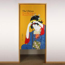 tenda giapponese gialla di poliestere, UKIYOE, donna