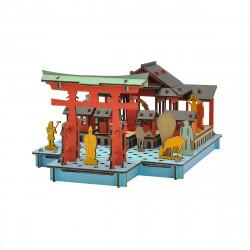 mini maquette en carton, MIYAJIMA, Miyajima