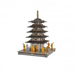 mini modello de carton, TO, Pagoda de 5 pisos.