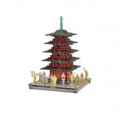 mini maquette en carton, TO, Pagode rouge à 5 étages