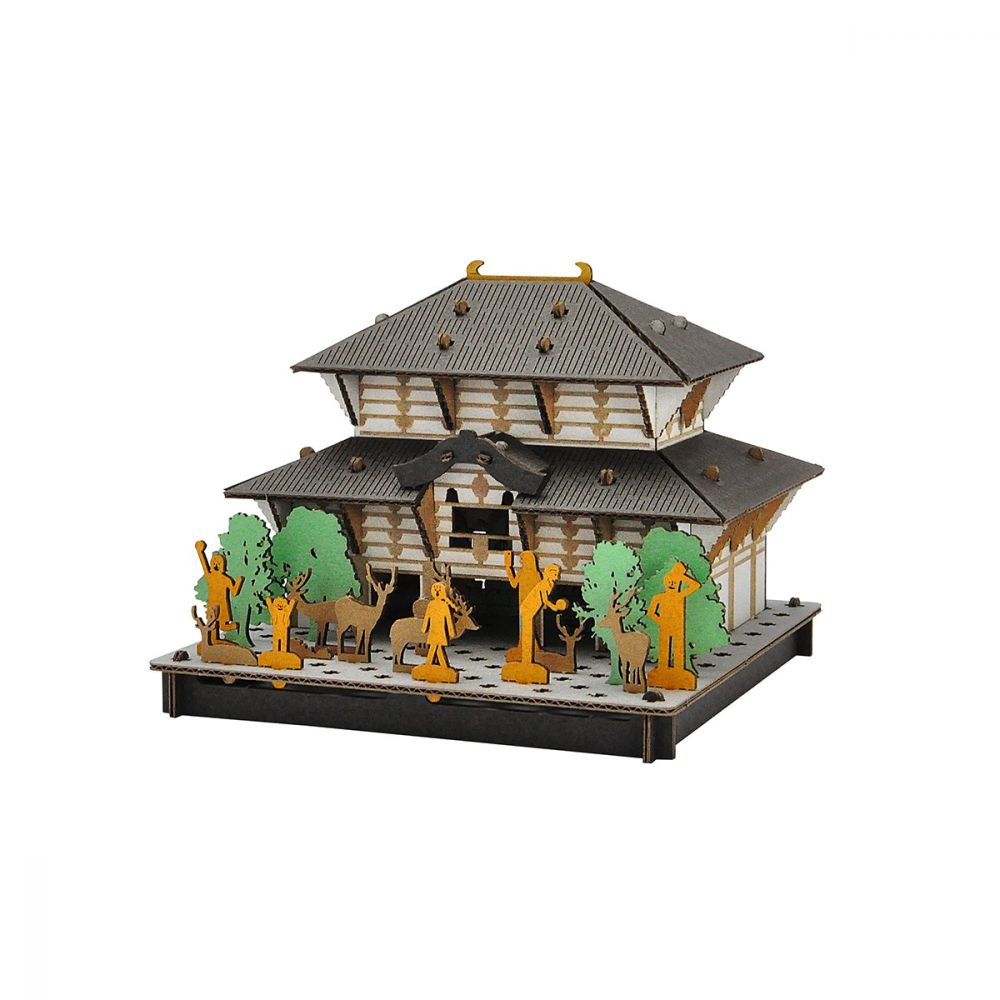 mini cardboard mockup, TODAI-JI, Great Buddha of Nara