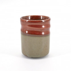 tasse rouge beige japonaise à thé en céramique